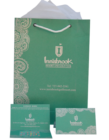 Goody bags, Bindi cards, Business Cards
