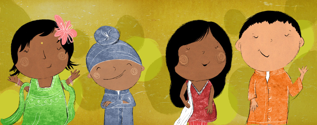 Characters of Let's Celebrate Diwali